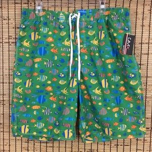 New Men's Swim Trunks Green XL Pool Beach Shorts